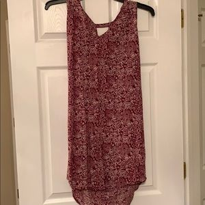 Red old navy tunic dress